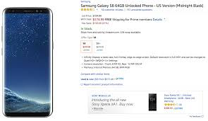 amazon black friday unlocked phone deals deal amazon begins selling the u s unlocked samsung galaxy s8