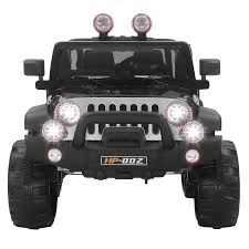jeep power wheels black 2 speed 12v kids ride on cars electric battery power wheels remote