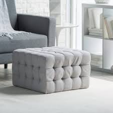 ottomans grey ottoman bench leather gray tufted storage bedroom