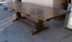 trestle tables for sale articles with salvaged wood trestle rectangular extension dining