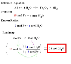 h mole mole ratios physical science