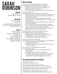Targeted Resume Example Double Major And Minor Resume Virtren Com
