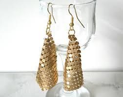 trendy gold earrings trendy earrings etsy