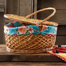 amazon com the pioneer woman picnic basket wicker willow and