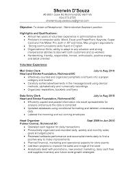 pleasant receptionist resume objective sample on resume career
