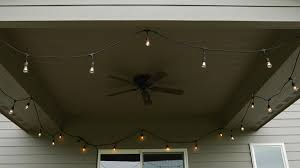 how to hang string lights on your patio