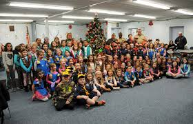 village of massapequa park scouts decorate village hall tree
