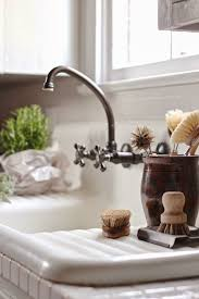 stainless steel farmhouse style kitchen faucets wide spread two