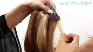 does halo couture work on short hair how to apply your halocouture extension youtube