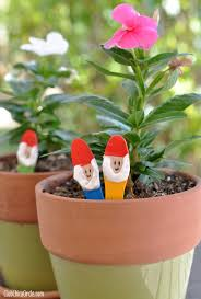 Pinterest Gardening Crafts - a fun and easy garden craft for kids make your own garden gnome