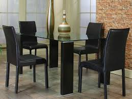 beguiling design black leather dining room chairs tags full size of kitchen chairs black wooden kitchen chairs dining room interior breathaking tempered glass