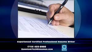 Certified Professional Resume Writers Resume Writer Colorado Springs Co Quantum Tech Resumes Youtube