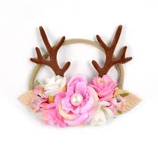 deer headband deer antler headband flower crown horns christmas hair band for