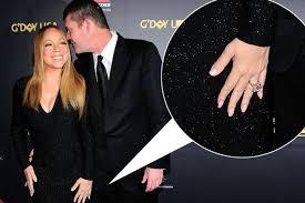 carey wedding ring carey flashes 8million engagement ring alongside fiancé