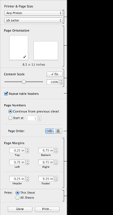 Numbers Spreadsheets Print A Spreadsheet Numbers Help