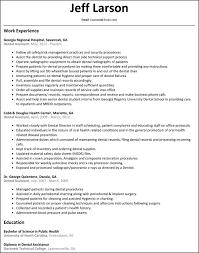 resume examples for dental assistant 70 images dental