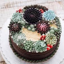 Cake Cake Trend Terrarium And Succulent Wedding Cakes