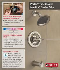 delta windemere 1 handle tub and shower faucet trim kit in