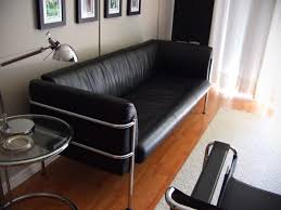 Black Leather Sofa Modern Modern Contemporary Black Leather Sofa Wassily Chair For Sale