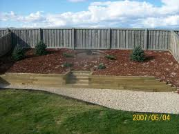 Landscaping Ideas For Sloped Backyard Landscape Sloped Backyard Pictures This Slope Was Covered With