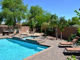 Pools Patios And Spas resort backyard with heated pool and homeaway riggs ranch