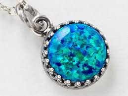 black opal necklace images Silver opal necklace opal pendant black opal necklace in silver jpg