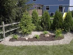 backyard landscaping garden ideas with ornamental trees also