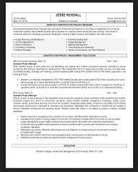 Construction Company Resume Resumes Objectives Examples Resume Example And Free Resume Maker