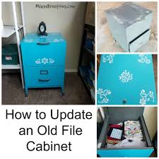 Teal File Cabinet How To Update An Old File Cabinet Fresh Look Mixed Kreations