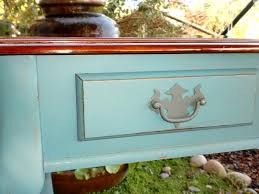 Turquoise Entry Table by Embellish U0026 Restore August 2011