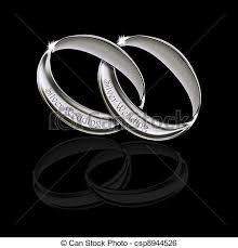 linked wedding rings silver wedding linked rings a pair of linked silver wedding