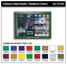 17ml bottle medieval model color paint set 16 colors hobby and