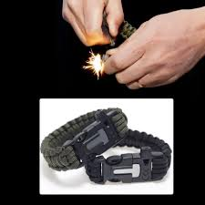 fire survival bracelet images Flint fire starter survival bracelet trader crossing jpg