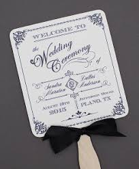 wedding program paddle fan template fans print