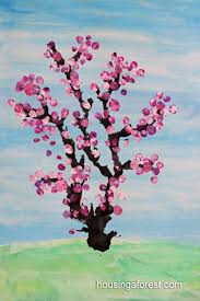 spring painting ideas spring cherry tree housing a forest