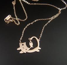 gold cat pendant necklace images Sandi pointe virtual library of collections jpg