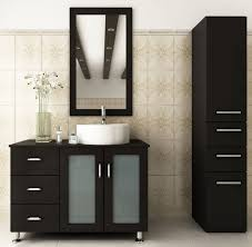 Bathroom Vanities With Vessel Sinks Avola 39 Inch Vessel Sink Bathroom Vanity Espresso Finish