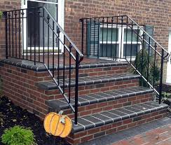 Brick Stairs Design Decor Brick Wall Design Ideas With Wrought Iron Railing Also