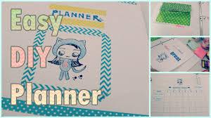 diy schedule planner agenda organizer for back to diy