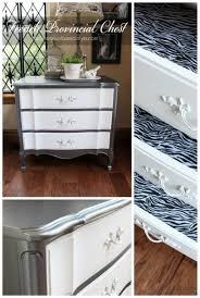 french provincial three drawer chest makeover in martha stewart u0027s