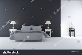 living room setting simple bedroom scene stock illustration