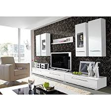 Cool Living Room Furniture Set In High Gloss White Amazoncouk - Living room furniture sets uk