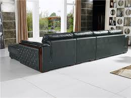German Living Room Furniture Germany Living Room Leather Sofa With Wooden Curve Poltrona Para