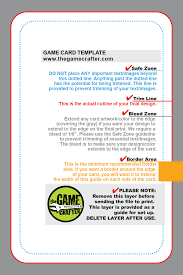 User Story Card Template Us Game Deck