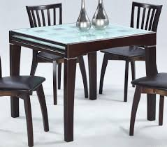 Glass Wood Dining Room Table Practical Expandable Glass Dining Table Dans Design Magz