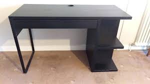 ikea black brown desk black desk ikea desk black corner desk ikea thesocialvibe co