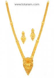 gold long necklace images 22k gold long necklace earrings set totaram jewelers buy jpg