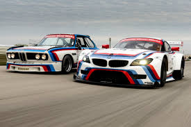 bmw 3 0 z4 150423 the 1975 bmw 3 0 csl racer and 2015 bmw z4 gtlm racer jpg