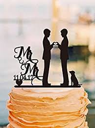 amazon com wedding cake topper with pet dog silhouette