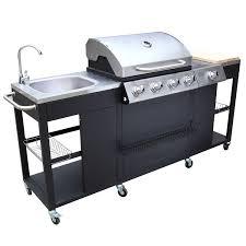 cuisiner avec barbecue a gaz vesta cuisine d extérieur 5 1 brûleurs avec ustensiles